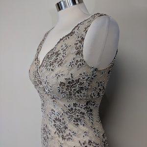 Vintage Dresses - Stretch Lace Floral Dress